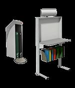 Informatiepost en schrijftafel